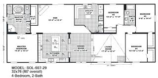 double wide floor plans 4 bedroom 3 bath 4 bedroom 3 5 bath mobile