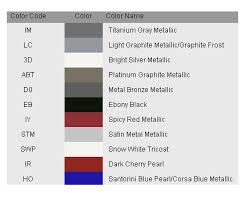 touch up paint color code