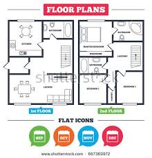 kitchen furniture plans architecture plan furniture house floor plan stock vector