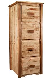 homestead timber frame 4 drawer file cabinet stained lacquered