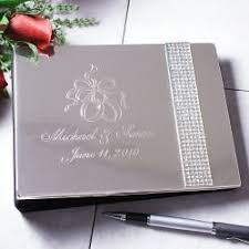 personalized wedding guest book personalized engraved wedding guest book glitter galore