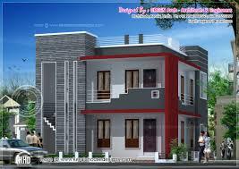 modern duplex villa elevation kerala home design house plans