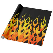 black wrapping paper classic racing flames on solid black wrapping paper zazzle