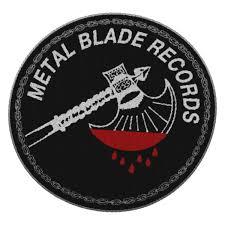 metal blade records axe logo patch