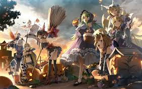 video game halloween background halloween in gensokyo by 会帆 touhou