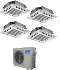 mitsubishi mini split ceiling cassette air conditioner vs split system grihon com ac coolers