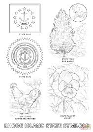 rhode island state symbols coloring page free printable coloring