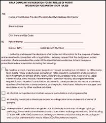 authorization to release medical records form template template