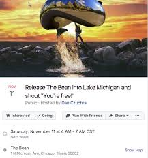 Chicago Memes Facebook - release the bean into lake michigan and shout you re free