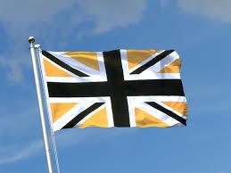Black And Blue Flag Union Jack Black Gold 3x5 Ft Flag 90x150 Cm Royal Flags