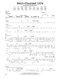 Download Lagu Third Eye Blind Third Eye Blind Semi Charmed Life Sheet Music At Stanton U0027s