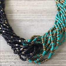 black seed bead necklace images Jewelry designer turquoise black seed bead necklace poshmark jpg