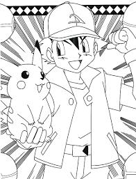 pokemon coloring pages pikachu ash pikachu coloring