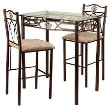 Bistro Table For Kitchen by 3 Piece Palladium Bistro Set Metal Bronze Target