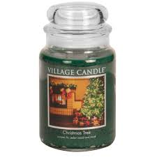 tree large glass jar traditions scented candle