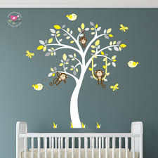 Monkey Nursery Decals Yellow Wall Decals For Nursery Color The Walls Of Your House