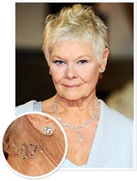 how to get judi dench hairstyle judi dench wore a 007 crystal tattoo to the london skyfall