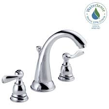 delta windemere 8 in widespread 2 handle bathroom faucet with