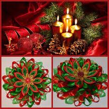 flower girl christmas ornament navidad clip arco de pelo de niña hecho a mano estilo kanzashi