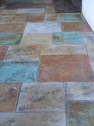 Painting Concrete Patio Slab Colored Stamped Concrete Patio With Fire Pit