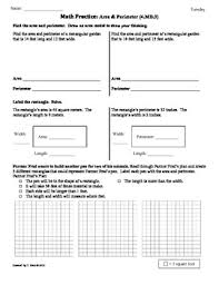 4 md 3 area u0026 perimeter 4th grade common core math worksheets by