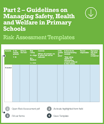 interactive risk assessments for primary schools health and