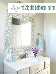 Framing Bathroom Mirrors Diy Mosaic Tile Framed Bathroom Mirror Also Interior Home