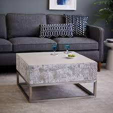 Occasional Table And Chairs Concrete Chrome Coffee Table West Elm