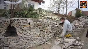Steine Fur Gartenmauer Trockenmauer Youtube