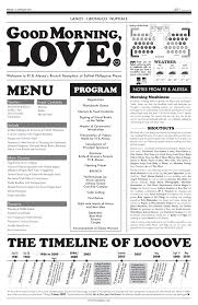 newspaper wedding program newspaper wedding program eco wedding ideas