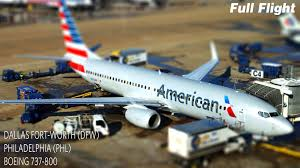 american airlines full flight dallas fort worth to philadelphia