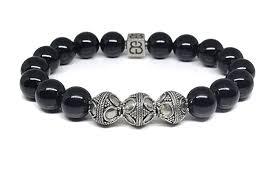 mens bracelet black beads images Black obsidian bracelet men 39 s obsidian bracelet jpg