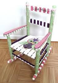 Kids Personalized Chairs Wonderful Childrens Rocking Chair With Footstool And Best 25