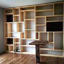 bibliothèque avec bureau intégré bureau bibliotheque design idées pour la maison