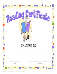 fillable online printable reading award certificate k12reader com