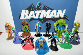 amazon com batman superhero and villains mini toy figure set of