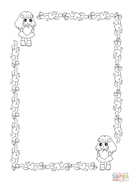 st valentine u0027s day frame coloring page free printable coloring