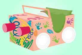 How To Decorate A Shoebox How To Make A Cardboard Box Car Parenting