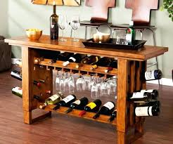 pub table with wine rack wine console table buffet bar table wine rack oak console table with