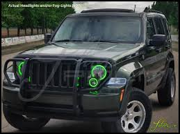 oracle 08 13 jeep liberty led dual color halo rings headlights bulbs