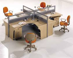 Orange Table L Office Workspace Modern Office Furniture Design Featuring