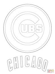 chicago cubs logo coloring page free printable coloring pages
