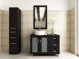 bathroom makeup vanity ideas white stained wood plank slopping
