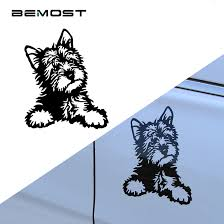 Yorkie Dog Vinyl Decal Cute Waterproof Car Stickers Motorcycle SUVs
