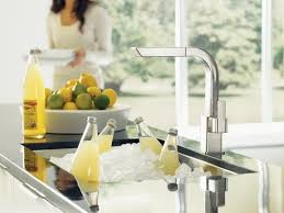 moen 90 degree kitchen faucet moen s7597 single handle kitchen faucet with pullout spray from the