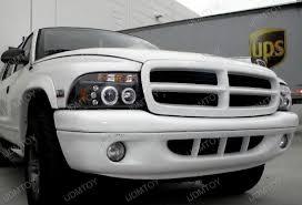 2001 dodge dakota headlight assembly 97 04 dodge dakota black dual halo projector led headlights