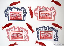 fish valentines silhouette print and cut fish classroom valentines lou