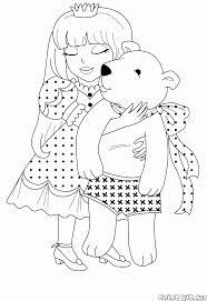 coloring page princess isabella