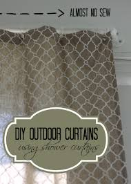 Outdoor Shower Curtains Diy Outdoor Curtains Using A Shower Curtain Of Home