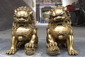 foo dog statues china regius brassdoor talisman fu foo dog evil guardian lion
